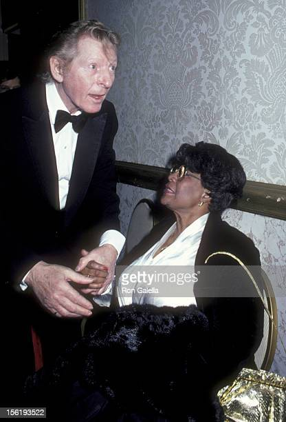 Actor Danny Kaye and singer Ella Fitzgerald attend Danny Kaye Tribute Gala on January 26 1982 at the Beverly Hilton Hotel in Beverly Hills California