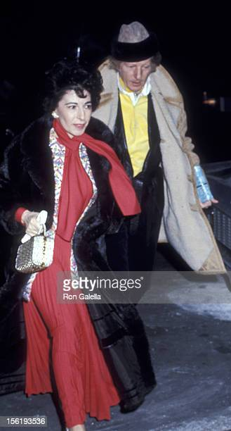Actor Danny Kaye and wife Sylvia Fine attend a private party on January 20 1971 at Jacqueline Kennedy Onassis apartment in New York City