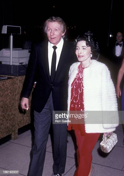 Actor Danny Kaye and wife Sylvia Fine attend New York Philharmonic Performance on September 23 1981 at Alice Tully Hall at Lincoln Center in New York...