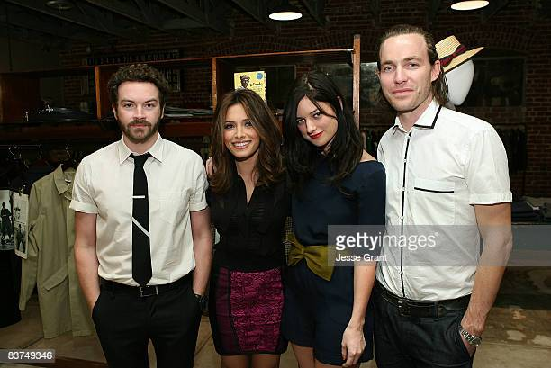 Actor Danny Masterson actress Sarah Shahi Ilaria Urbinati and designer David Neville attend the Confederacy Hearts Rag and Bone cocktail party held...