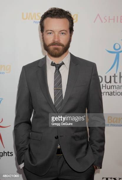 Actor Danny Masterson arrives at the Youth For Human Rights International Celebrity Benefit at Beso on March 24 2014 in Hollywood California