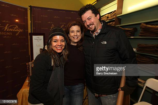 Actor Danny McBride Paige Jansen and Gia McBride attend the Kari Feinstein Style Lounge on January 22 2011 in Park City Utah