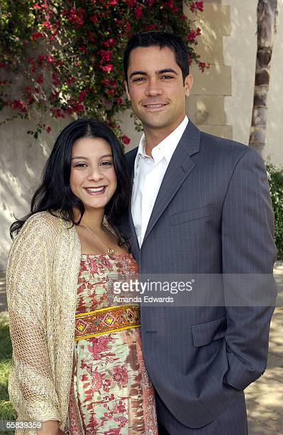 Actor Danny Pino and his wife Lilly attend the Rape Foundation's Annual Brunch at the home of Ron Burkle on October 2 2005 in Beverly Hills California