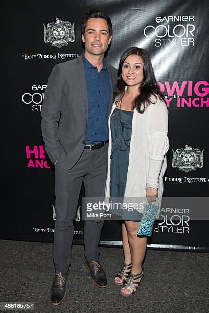 Actor Danny Pino and his wife Lilly Pino attend the Broadway opening night of Hedwig And The Angry Inch at the Belasco Theatre on April 22 2014 in...