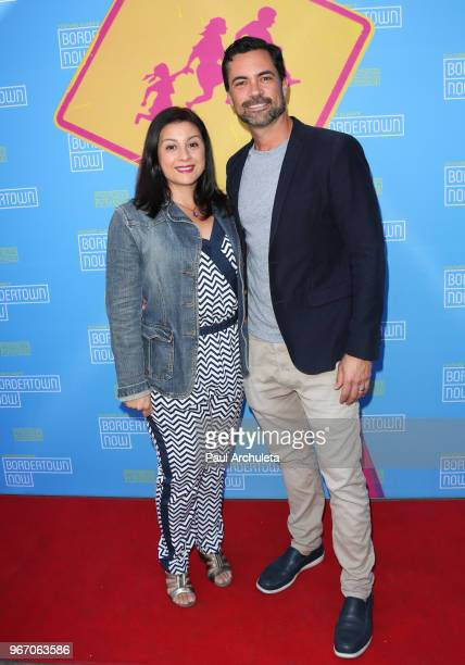 Actor Danny Pino and his Wife Lilly Pino attend the opening night performance of Bordertown Now at the Pasadena Playhouse on June 3 2018 in Pasadena...