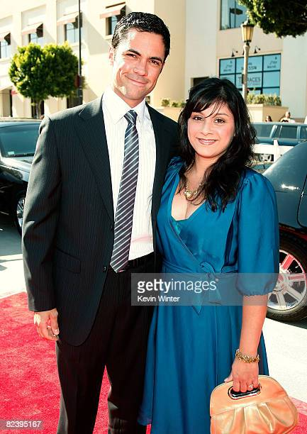 Actor Danny Pino and his wife Lily arrive at the 2008 ALMA Awards at the Pasadena Civic Auditorium on August 17 2008 in Pasadena California