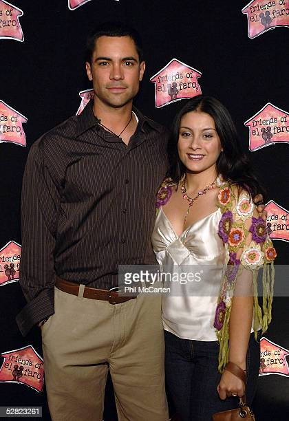 Actor Danny Pino and wife Lilly Pino arrive at the 3rd annual A Night with the Friends of El Faro benefit and concert at The Music Box Henry Fonda...