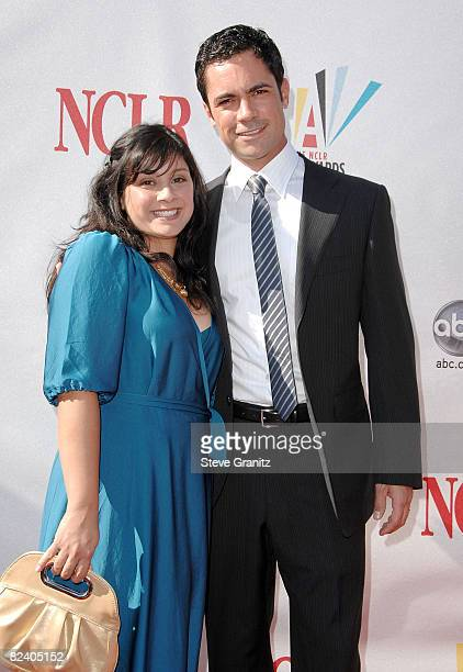 Actor Danny Pino and wife Lily Pino arrive at the 2008 ALMA Awards at the Pasadena Civic Auditorium on August 17 2008 in Pasadena California