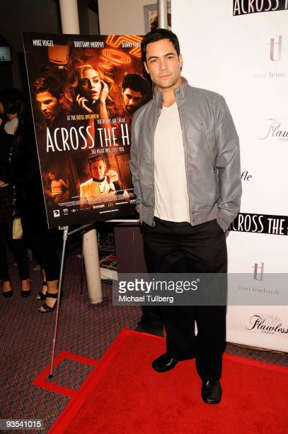 Actor Danny Pino arrives at the premiere of Across The Hall on December 1 2009 in Beverly Hills California
