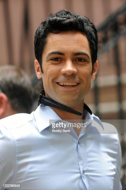 Actor Danny Pino filming on location for Law Order SVU on the streets of Manhattan on August 3 2011 in New York City