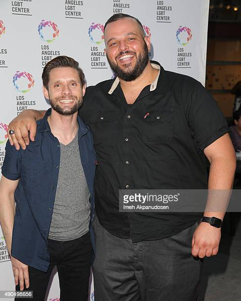 Actor Danny Pintauro and Daniel Franzese attend the premiere party for Fuse's 'Transcendent' at The Village at Ed Gould Plaza on September 28 2015 in...