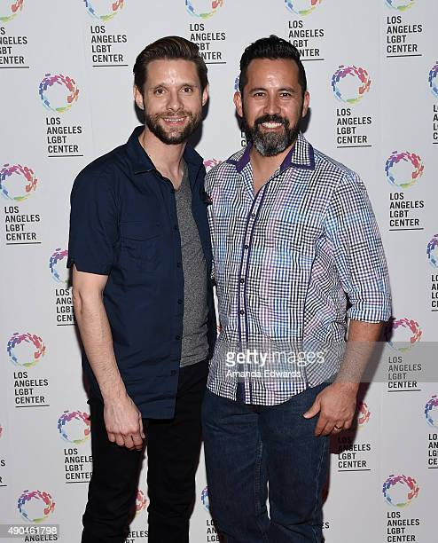 Actor Danny Pintauro and his husband Wil Tabares arrive at the premiere party for Fuse's Transcendent at The Village at Ed Gould Plaza on September...