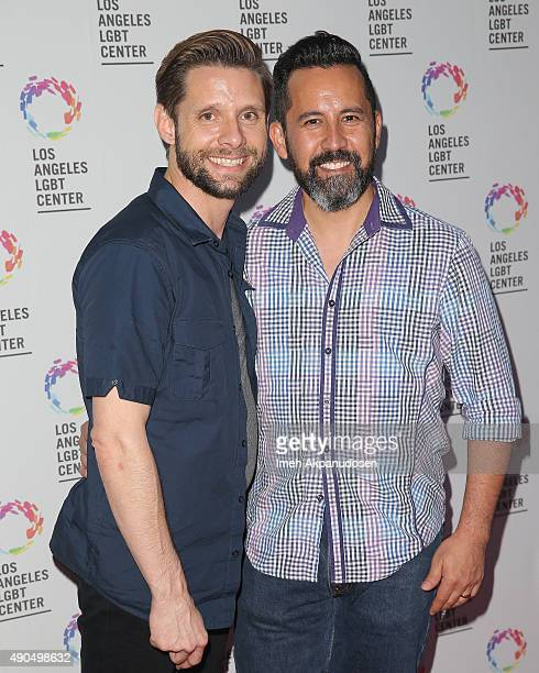 Actor Danny Pintauro and his husband Wil Tabares attend the premiere party for Fuse's 'Transcendent' at The Village at Ed Gould Plaza on September 28...