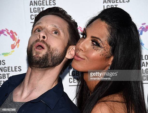 Actor Danny Pintauro and transgender television personality Xristina arrive at the premiere party for Fuse's Transcendent at The Village at Ed Gould...