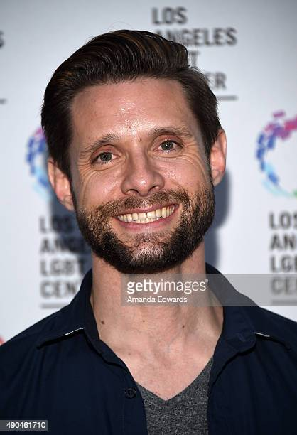 Actor Danny Pintauro arrives at the premiere party for Fuse's Transcendent at The Village at Ed Gould Plaza on September 28 2015 in Los Angeles...