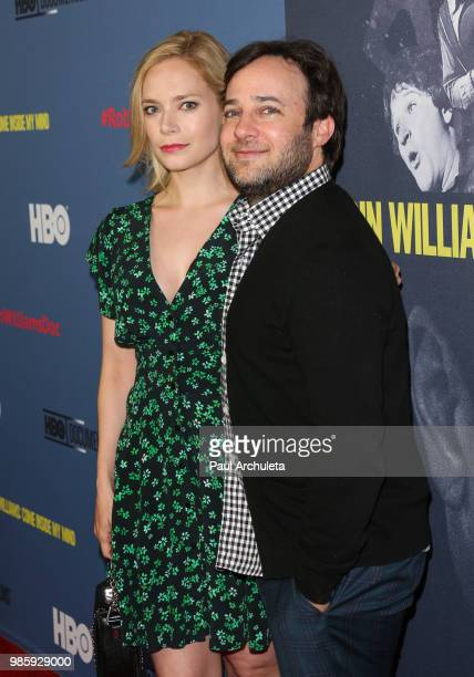 Actor Danny Strong and Producer Caitlin Mehner attend the premiere of 'Robin Williams Come Inside My Mind' from HBO Documentary Films' at the TCL...