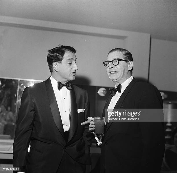 Actor Danny Thomas and Milton Berle attend an event in Los Angeles,CA.