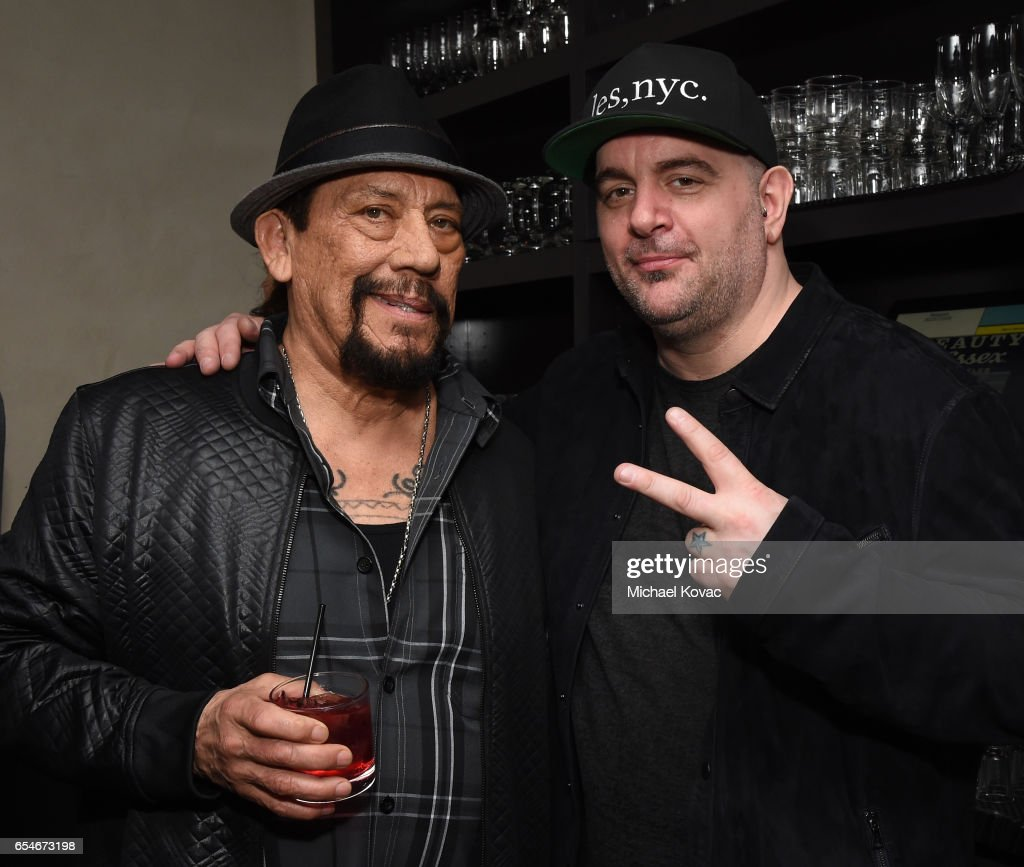 Actor Danny Trejo (L) and chef Chris Santos attend day two of TAO, Beauty & Essex, Avenue and Luchini LA Grand Opening on March 17, 2017 in Los Angeles, California.