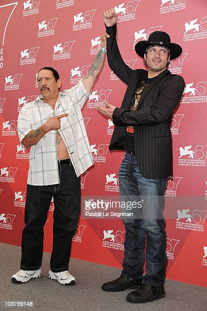 Actor Danny Trejo and director Robert Rodriguez attend the 'Machete' photocall during the 67th Venice Film Festival at the Palazzo del Casino on...