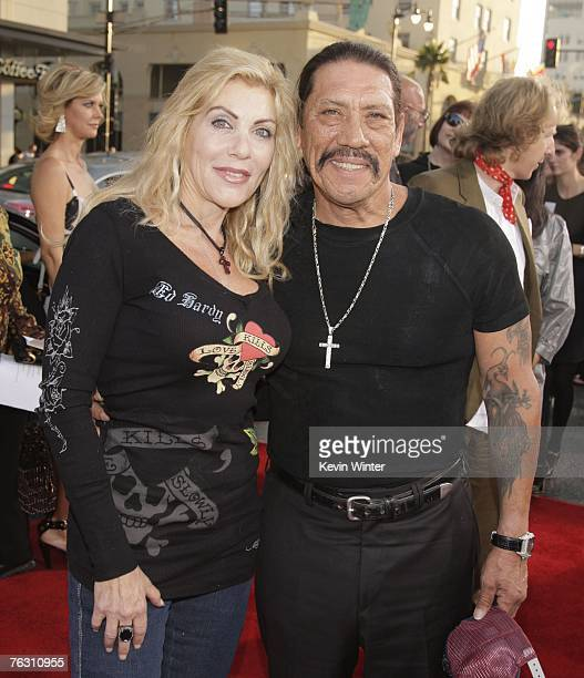 Actor Danny Trejo and his wife Debbie arrive at the premiere of MGM's Halloween at the Chinese Theater on August 23 2007 in Los Angeles California