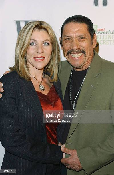 Actor Danny Trejo and his wife Debbie arrive at the W Magazine party honoring author John Livesay at the home of Donna Estes Antebi on January 22...