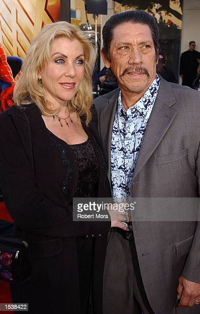 Actor Danny Trejo and his wife Debbie attend the premiere of SpiderMan April 29 2002 in Westwood CA