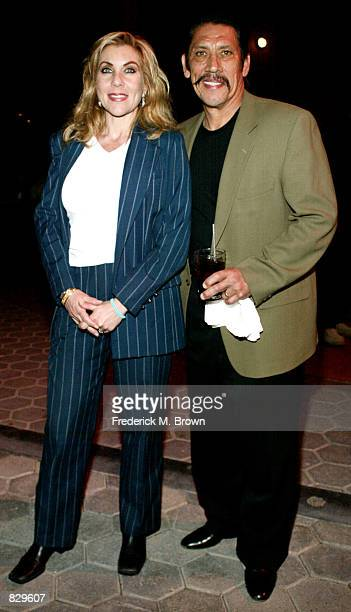 Actor Danny Trejo and his wife Debbie attend the Youth Improving NonProfit for Children Awards March 4 2002 in Los Angeles CA Former NBA basketball...
