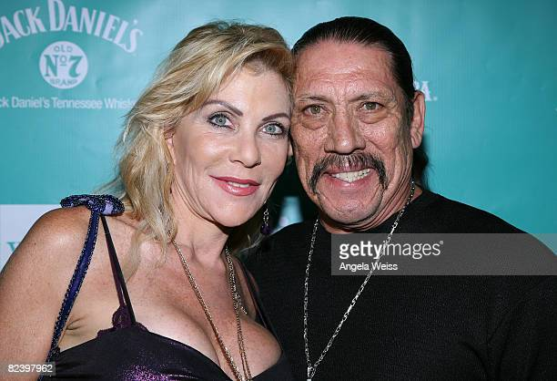 Actor Danny Trejo and his wife Debbie Trejo arrive at the 2008 ALMA Awards After Party held at Mood Supperclub on July 17 2008 in Hollywood California