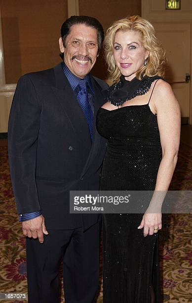 Actor Danny Trejo and wife Debbie attend the 8th Annual American Veteran Awards at the Regent Beverly Wilshire Hotel on November 22 2002 in Beverly...