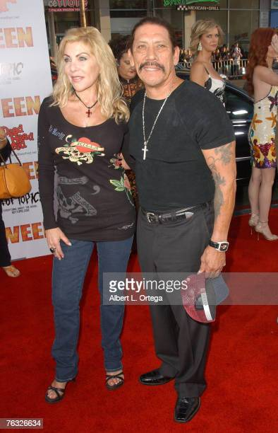 Actor Danny Trejo and wife Debbie attend the world premiere of Rob Zombie's Halloween at Grauman's Chinese Theater in Hollywood California