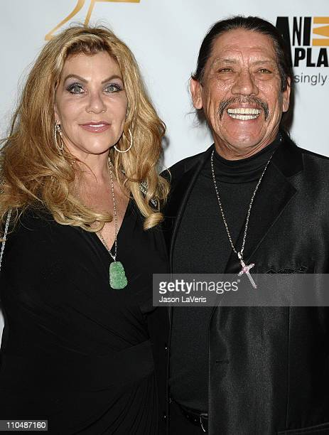 Actor Danny Trejo and wife Debbie Shreve attend the Humane Society's 25th annual Genesis Awards at the Hyatt Regency Century Plaza on March 19 2011...