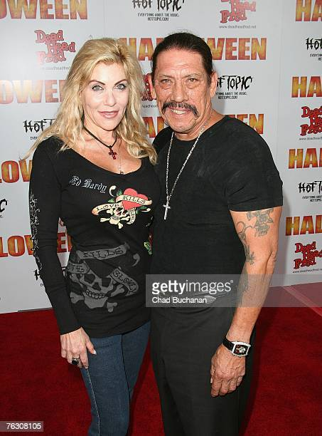 Actor Danny Trejo and wife Debbie Trejo attend the premiere of MGM's Halloween at Grauman's Chinese Theatre on August 23 2007 in Los Angeles...