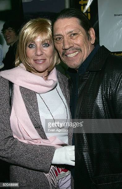 Actor Danny Trejo and wife Debbie Trejo attend the premiere of Upside of Anger at the Eccles Center for the Performing Arts during the 2005 Sundance...