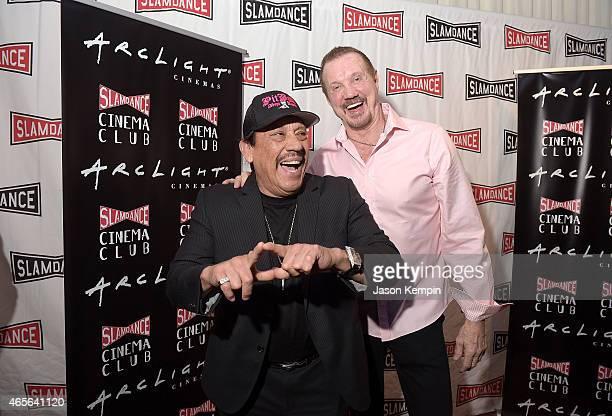 Actor Danny Trejo and Wrestler Diamond Dallas Page attend the Slamdance Cinema Club screening of 'Resurrection Of Jake The Snake' at ArcLight Cinemas...