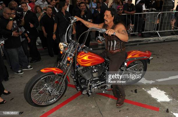 Actor Danny Trejo arrives at 20th Century Fox's screening of 'Machete' at the Orpheum Theater on August 25 2010 in Los Angeles California
