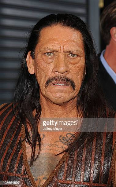 Actor Danny Trejo arrives at the Machete Los Angeles Premiere at The Orpheum Theatre on August 25 2010 in Los Angeles California