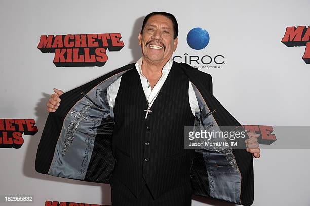 Actor Danny Trejo arrives at the premiere of Open Road Films' 'Machete Kills' at Regal Cinemas LA Live on October 2 2013 in Los Angeles California