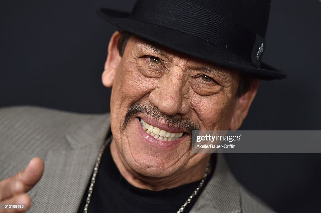 Actor Danny Trejo arrives at the premiere of Open Road's 'Triple 9' at Regal Cinemas L.A. Live on February 16, 2016 in Los Angeles, California.