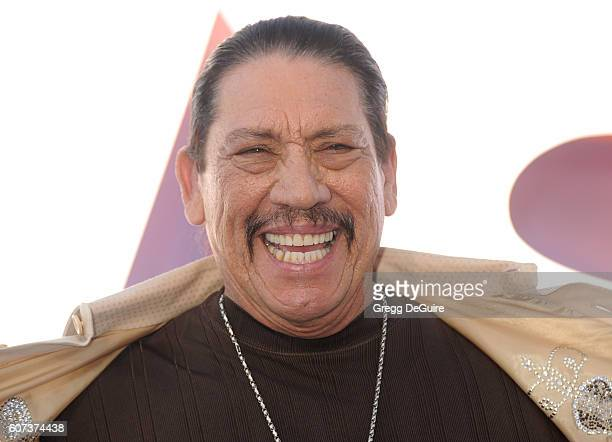 Actor Danny Trejo arrives at the premiere of Warner Bros Pictures' 'Storks' at Regency Village Theatre on September 17 2016 in Westwood California