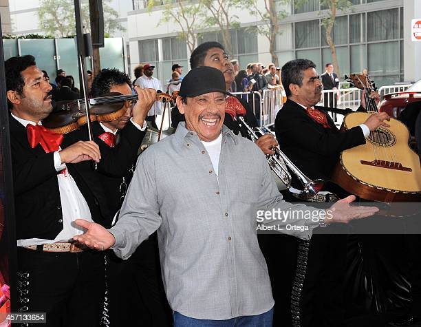 Actor Danny Trejo arrives for the Premiere Of Twentieth Century Fox And Reel FX Animation Studios' 'The Book Of Life' held at Regal Cinemas LA Live...