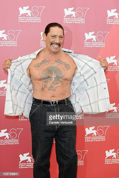 Actor Danny Trejo attends the Machete photocall at the Palazzo del Casino during the 67th Venice International Film Festival on September 12010 in...