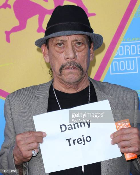 Actor Danny Trejo attends the opening night performance of 'Bordertown Now' at the Pasadena Playhouse on June 3 2018 in Pasadena California