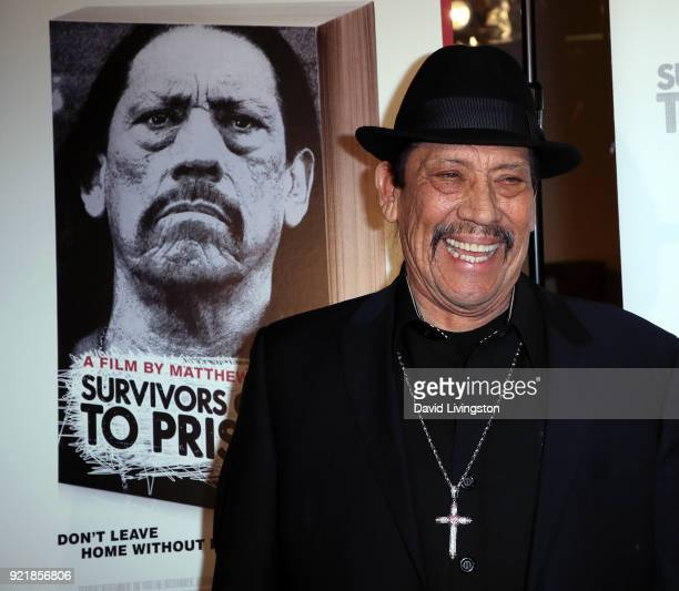 Actor Danny Trejo attends the premiere of Gravitas Pictures' 'Survivors Guide to Prison' at The Landmark on February 20 2018 in Los Angeles California