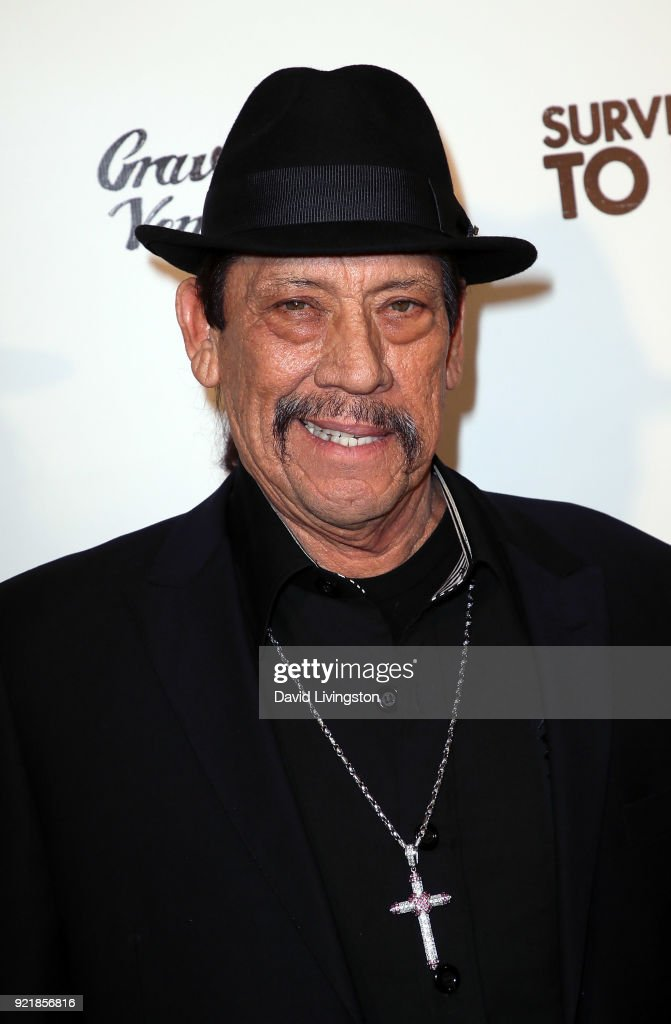 Actor Danny Trejo attends the premiere of Gravitas Pictures' 'Survivors Guide to Prison' at The Landmark on February 20, 2018 in Los Angeles, California.