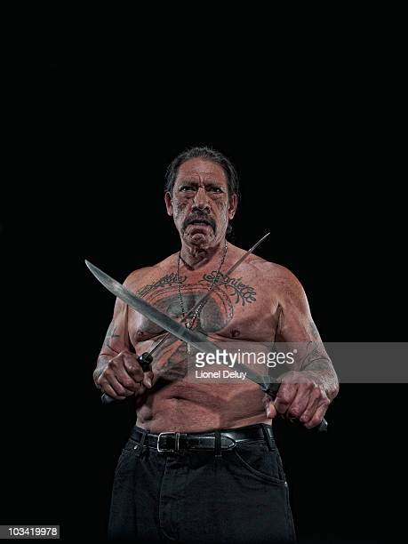 Actor Danny Trejo is photographed for Penthouse Magazine on June 18 2010 in Los Angeles California