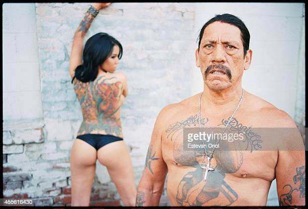 Actor Danny Trejo poses for an Urban Ink magazine editorial Downtown Los Angeles off of Alameda and 6th in 2010