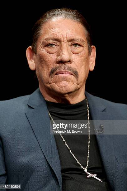 Actor Danny Trejo speaks onstage during the 'From Dusk Til Dawn The Series' panel discussion at the El Rey Network portion of the 2015 Summer TCA...