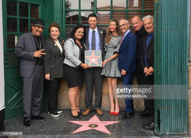 Actor Danny Trejo Vice Chair of CA Film Commission Donelle Dadigan Hollywood Chamber of Commerce president Rana Ghadban COO of Musso Frank Grill Mark...