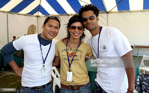Actor Dante Basco singer Raven Williams and singer Eric Benet attend day of the child on October 14 2007 at Pirece College in Woodland Hills...