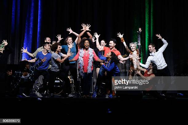 Actor Danyel Fulton and performers attend BroadwayCon 2016 at the Hilton Midtown on January 22 2016 in New York City